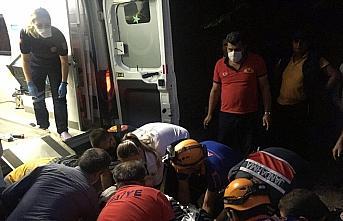 Zonguldak'ta ağaçtan düşerek dere yatağına yuvarlanan kadın yaralandı