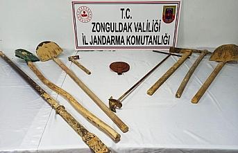 Zonguldak'ta kaçak kazı yapan 3 kişi suçüstü...