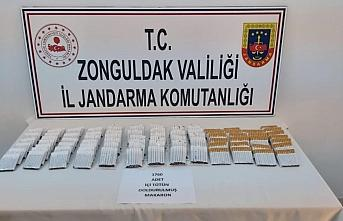 Zonguldak'ta kaçak sigara operasyonunda 1 kişi gözaltına...
