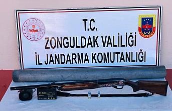 Zonguldak'ta ses cihazıyla kaçak avlanan kişi yakalandı