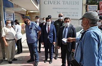 Amasya Valisi Masatlı Kovid-19 denetimine katıldı