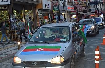 Bartın'da Azerbaycan'a destek için araç konvoyu oluşturuldu