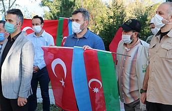 Bolu'da Azerbaycan'a destek için konvoy oluşturuldu