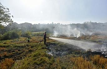 Boyabat'ta anız yangını söndürüldü