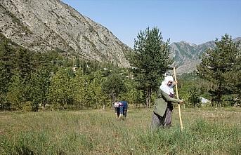 Çiftçilik yapan ilkokul mezunu kadın boş vakitlerinde...