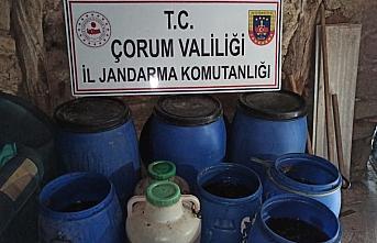 Çorum'da 2 bin 653 litre sahte içki ele geçirildi