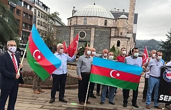 Giresun'da, Ermenistan'ın Azerbaycan'a yönelik saldırısına kınama