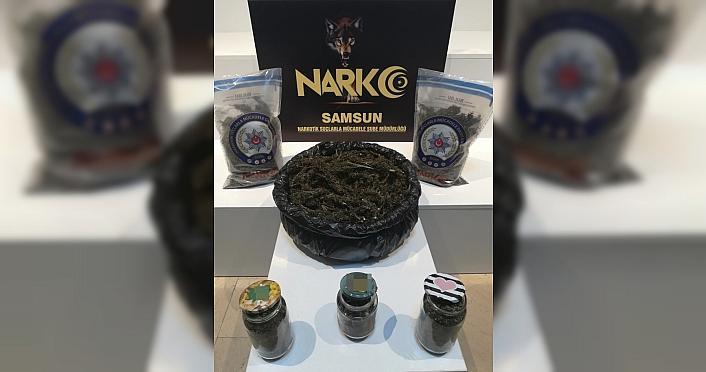 GÜNCELLEME - Samsun'da 5 kilogram uyuşturucuyla yakalanan 2 kişi tutuklandı