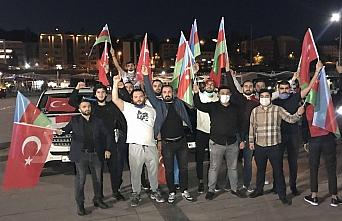 Karabük'te Azerbaycan'a destek konvoyu
