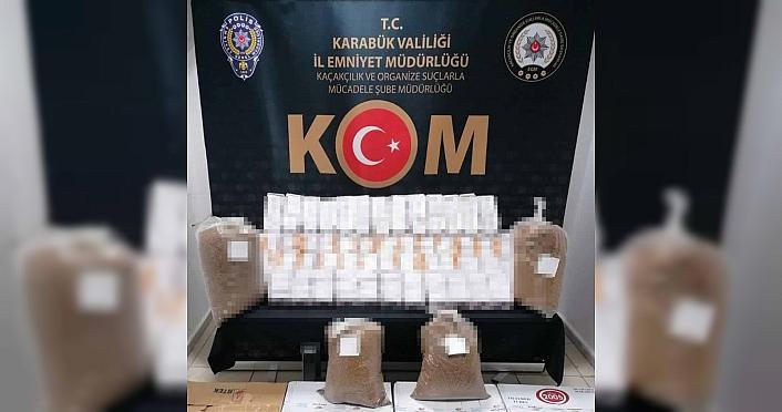 Karabük'te sahte içki ve kaçak tütün operasyonu: 4 gözaltı