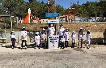 Kastamonu Belediyesi çocuklarda Kovid-19 konusunda...