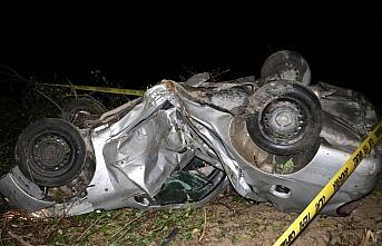Kastamonu'da devrilen otomobilin sürücüsü öldü