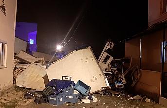 Kastamonu'da evin duvarına çarpan kamyonun şoförü...
