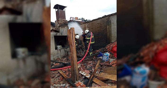 Merzifon'da ev yangını