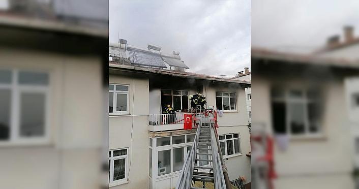 Merzifon'da ev yangını hasara yol açtı