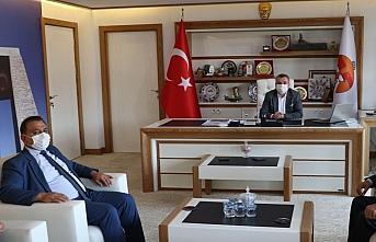 MHP Havza İlçe Başkanlığından Belediye Başkanı Özdemir'e ziyaret
