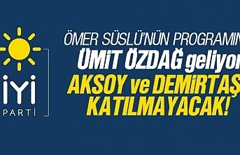 Ömer Süslü'nün kucaklaşma programına Demirtaş...