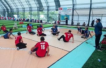 Oturarak voleybolda dostluk maçı