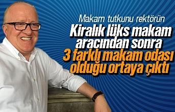 Rektör Mahmut Aydın'ın lüks makam aracından sonra 3 ayrı makam odası ortaya çıktı