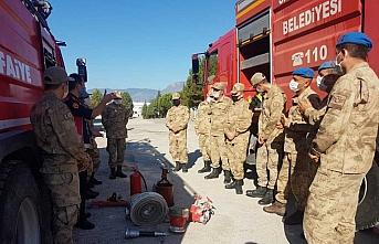 Safranbolu'da jandarmaya yangın eğitimi verildi
