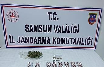 Samsun'da jandarmanın operasyonunda uyuşturucu şüphelisi gözaltına alındı