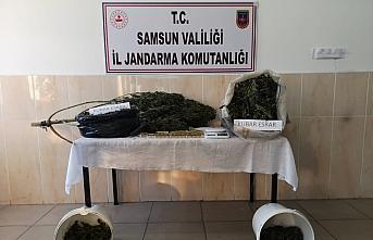 Samsun'da uyuşturucu operasyonunda yakalanan şüpheli...