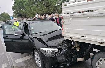 Samsun'da zincirleme trafik kazasında 1 kişi yaralandı