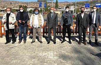 Taşova Belediye Başkanı Öztürk gazetecilerle...