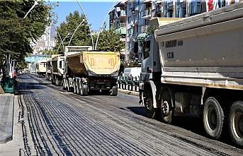 Tokat'ta Gaziosmanpaşa Bulvarı asfaltlanıyor