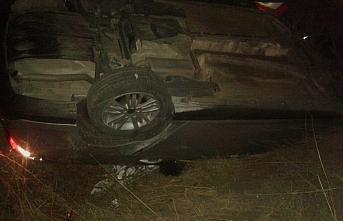 Tokat'ta otomobil devrildi: 1 yaralı