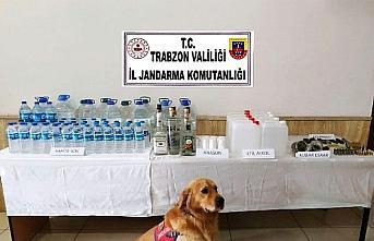 Trabzon'da 115 litre sahte rakı ele geçirildi