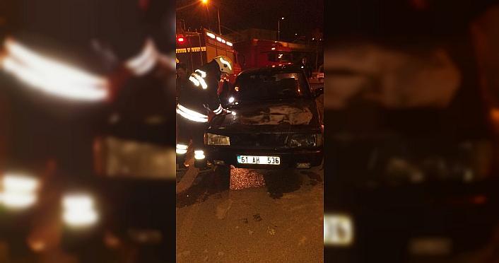 Trabzon'da otomobil yangını