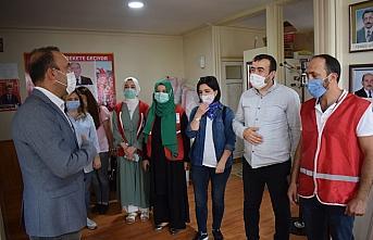 Türk Kızılay Akçakoca şubesi, MHP ilçe teşkilatını ziyaret etti