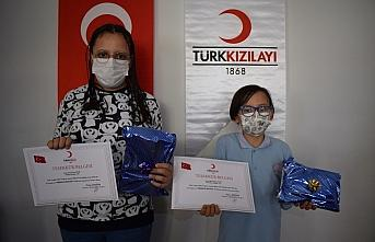 Türk Kızılay Akçakoca şubesinden öğrencilere teşekkür belgesi