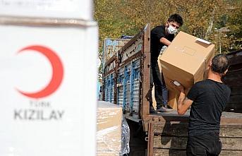 Türk Kızılaydan Zonguldak'taki sağlık çalışanlarına tıbbi malzeme desteği
