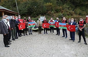 Ulugöl'de düzenlenen kano etkinliğinde Azerbaycan'a destek