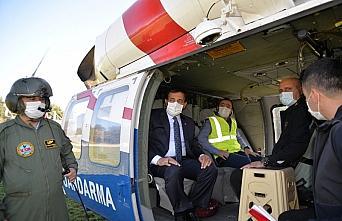 Vali Ümit'ten helikopterle denetim