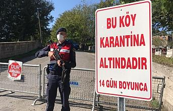Zonguldak'ta bir köy Kovid-19 tedbirleri kapsamında...