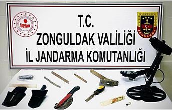 Zonguldak'ta kaçak kazı yapan 2 kişi yakalandı