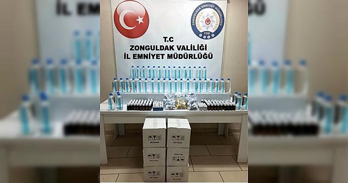 Zonguldak'ta sahte içki denetiminde 1 kişi gözaltına alındı