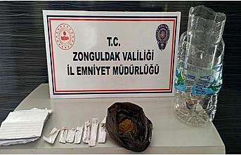 Zonguldak'ta uyuşturucu operasyonunda yakalanan 3...