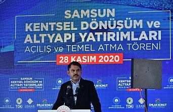 Bakan Kurum, Samsun'da Kentsel Dönüşüm Temel Atma...