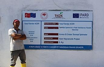 Çorum'da TKDK hibesiyle AB standartlarında tesis kuran çiftçi, et verimini yükseltmeyi hedefliyor