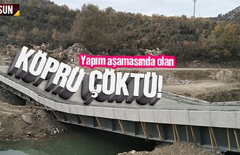 Daha yapılmadan köprü çöktü