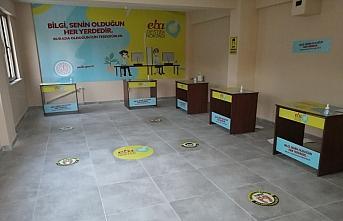 Düzce'de okul olmayan köylerde EBA destek noktası...