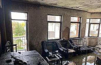 Giresun'da yanan evde maddi hasar oluştu