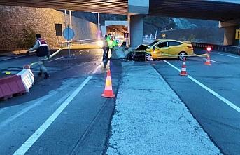 Gümüşhane'de kaza yapan ticari taksinin sürücüsü öldü