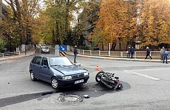 Karabük'te otomobille çarpışan motosikletin sürücüsü...