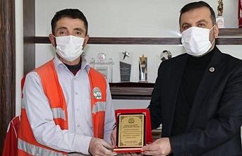 Kavak'ta başarılı personel ödüllendirildi