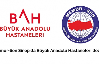 Memur-Sen Sinop'da Büyük Anadolu Hastaneleri dedi